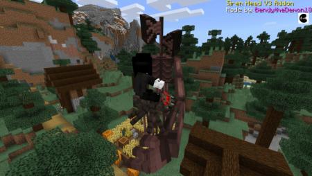 Siren Head V3 Minecraft PE Addon